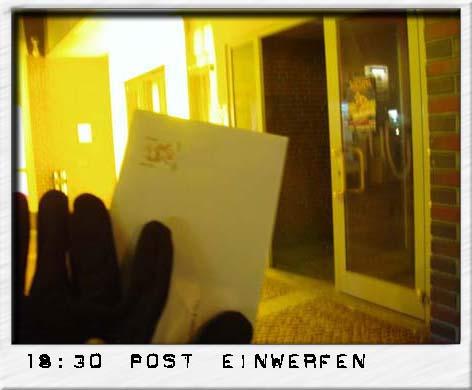Post einwerfen