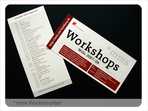 *mms Workshopflyer
